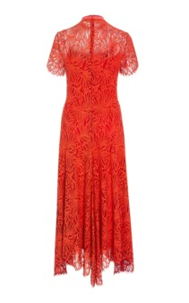 PROENZA SCHOULER Mock-Neck Lace Midi Orange Dress 2