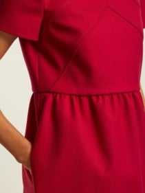 REDVALENTINO Seam-detail Twill Mini Red Dress 5