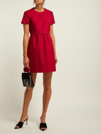 REDVALENTINO Seam-detail Twill Mini Red Dress