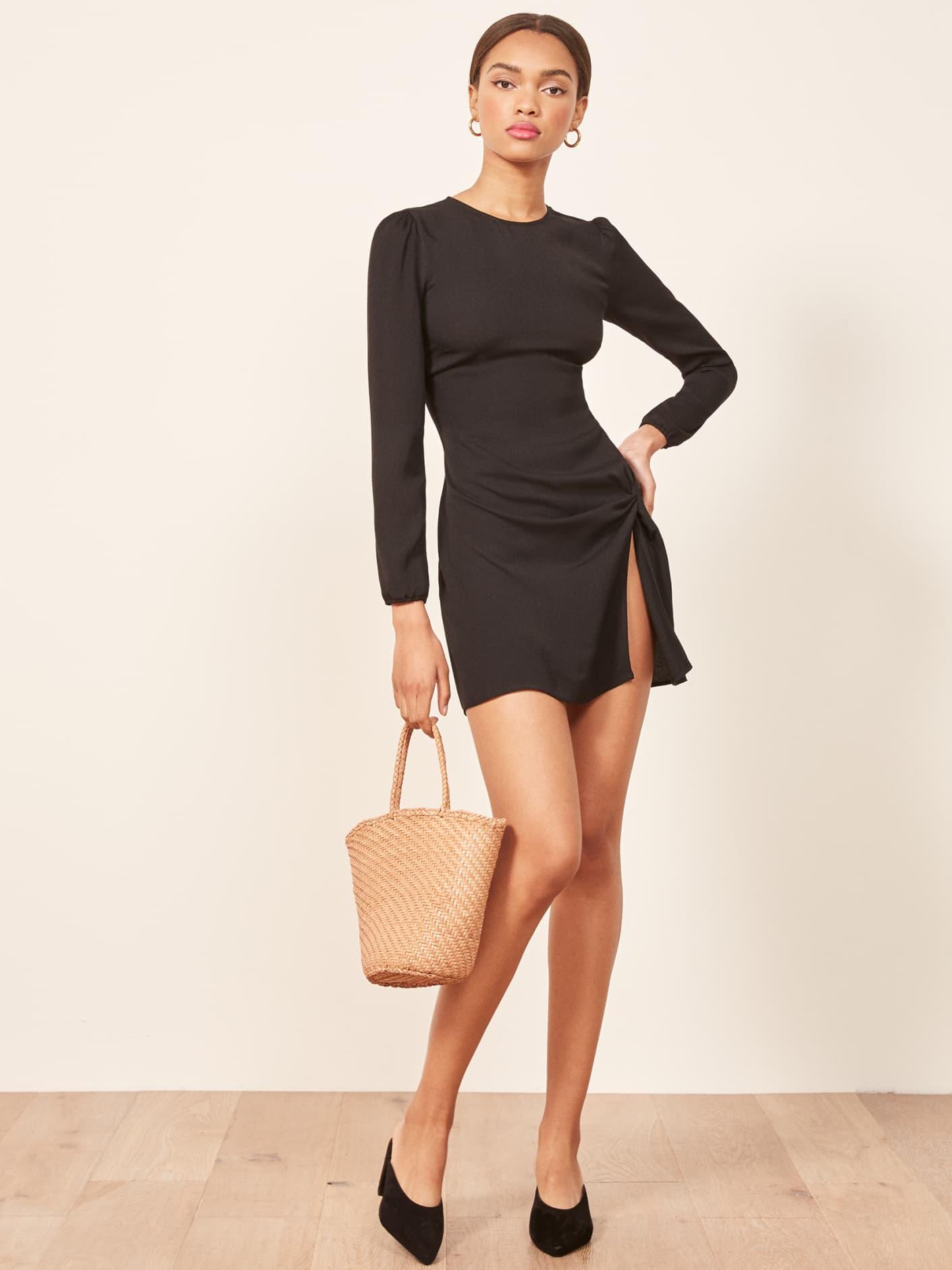 6d79df968bfde REFORMATION Cara Black Dress - We Select Dresses