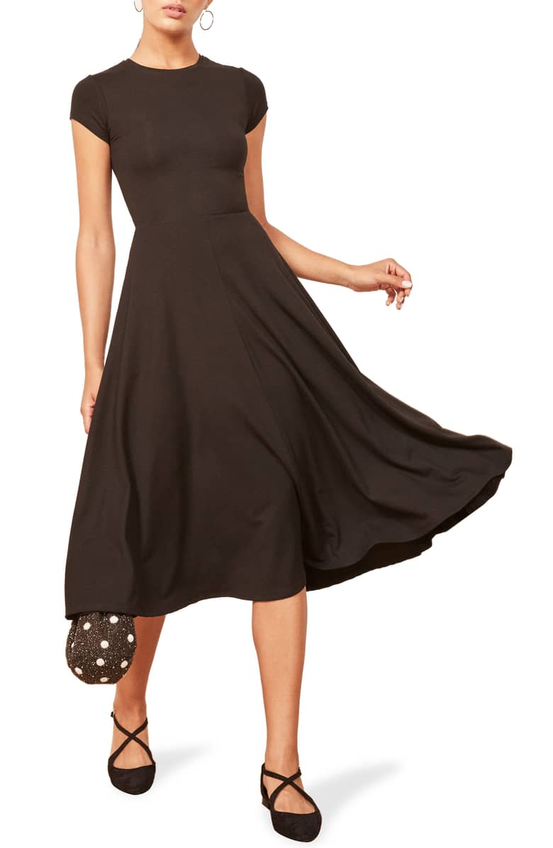REFORMATION Ines Black Dress 2