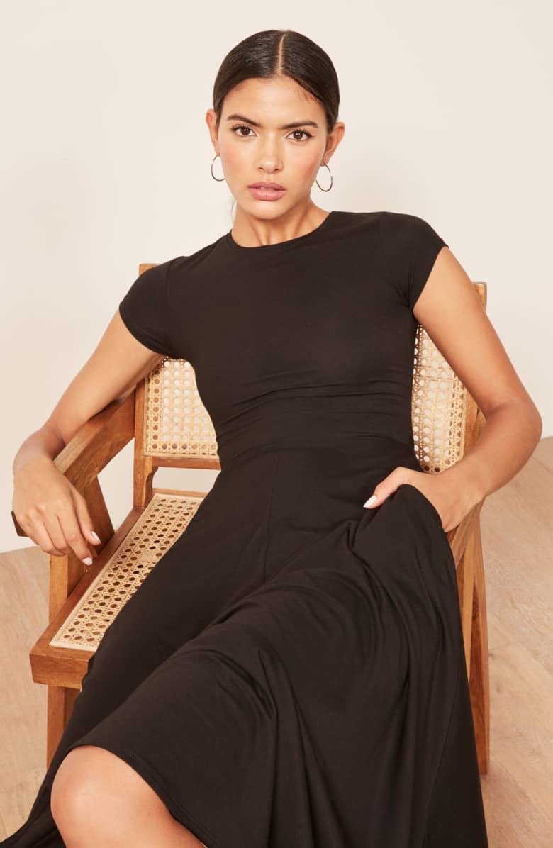 REFORMATION Ines Black Dress 3
