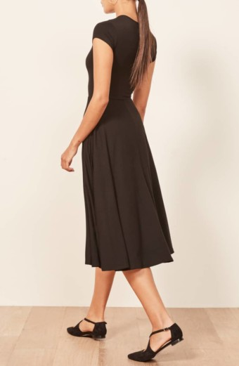 REFORMATION Ines Black Dress 4