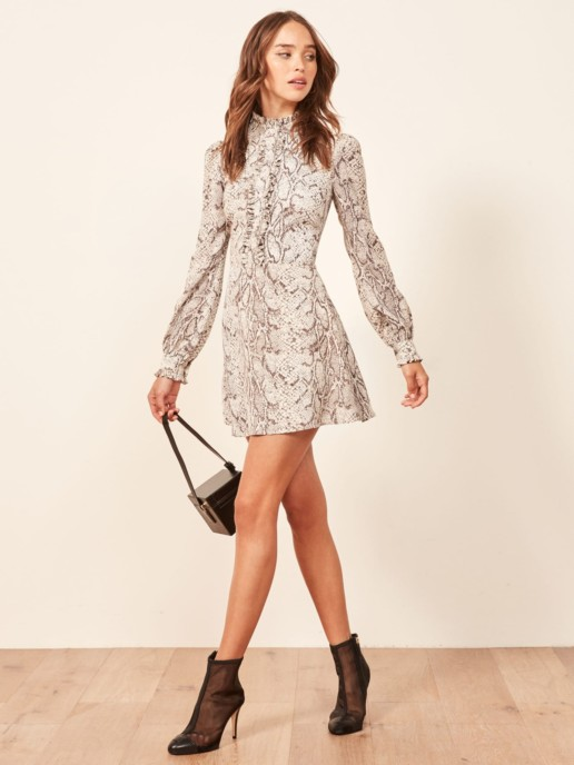 REFORMATION Mathilda Python Dress