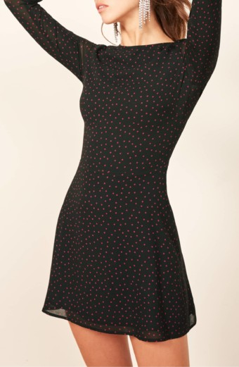 REFORMATION Mayra Black Dress 4