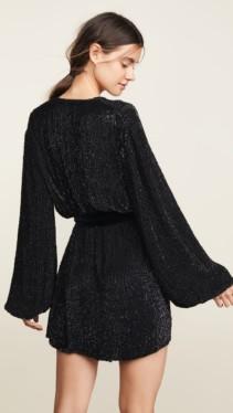 RETROFETE Gabriella Sequin Black Robe 2