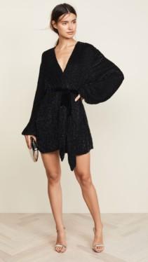 RETROFETE Gabriella Sequin Black Robe 4
