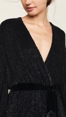 RETROFETE Gabriella Sequin Black Robe 5