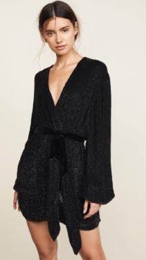 RETROFETE Gabriella Sequin Black Robe