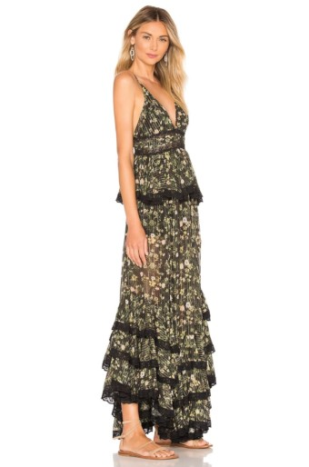 ROCOCO SAND Tiered Long Black Dress 3