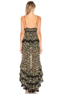 ROCOCO SAND Tiered Long Black Dress 3