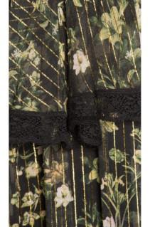ROCOCO SAND Tiered Long Black Dress 4