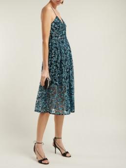 SELF-PORTRAIT Azaelea Sequinned Midi Blue Dress