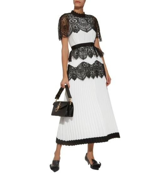 SELF-PORTRAIT Lace Cape Ivory Dress