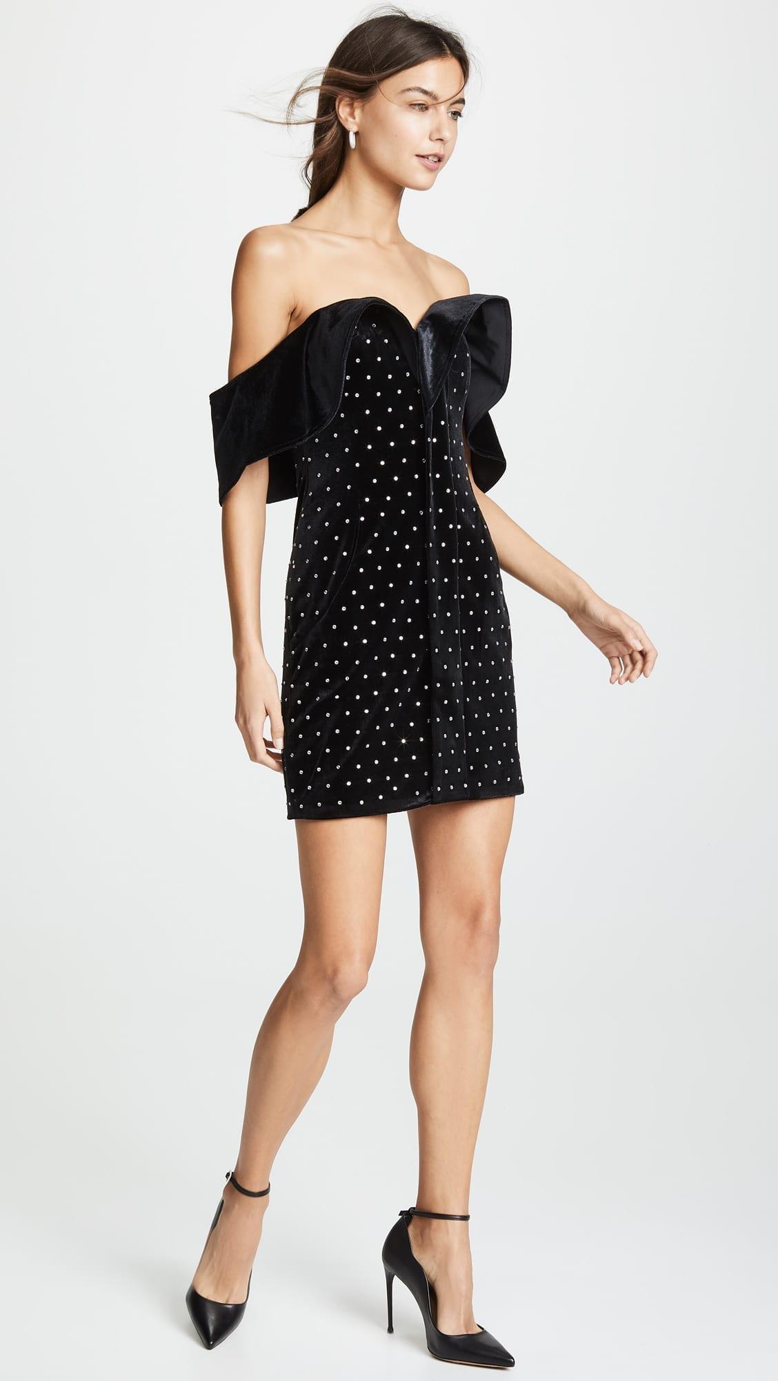 0548856b25 SELF PORTRAIT Off Shoulder Velvet Black Dress - We Select Dresses