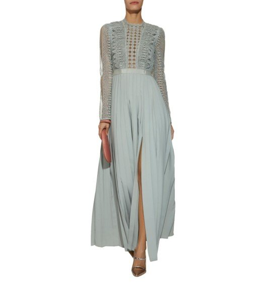 SELF-PORTRAIT Spiral Lace Grey Gown