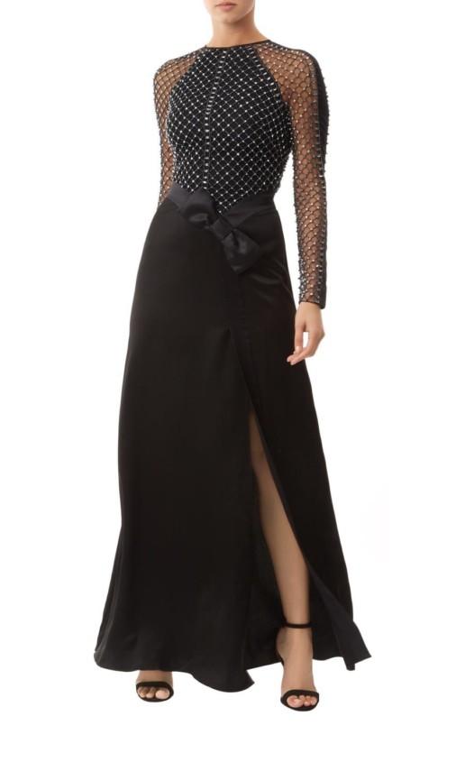TEMPERLEY LONDON Emblem Long Black Gown