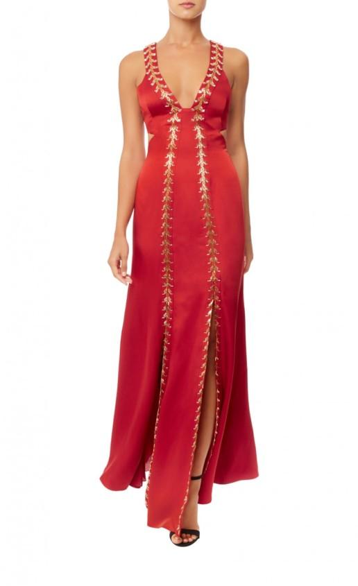 TEMPERLEY LONDON Nile Evening Vermilion Gown