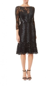 TEMPERLEY LONDON Panther Fitted Black Dress