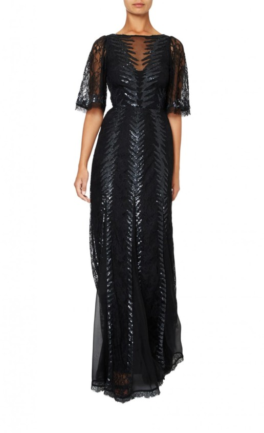 TEMPERLEY LONDON Panther Lace Black Gown