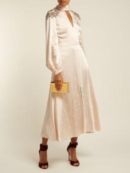 TEMPERLEY LONDON Parachute Sequinned Satin Pale Pink Dress