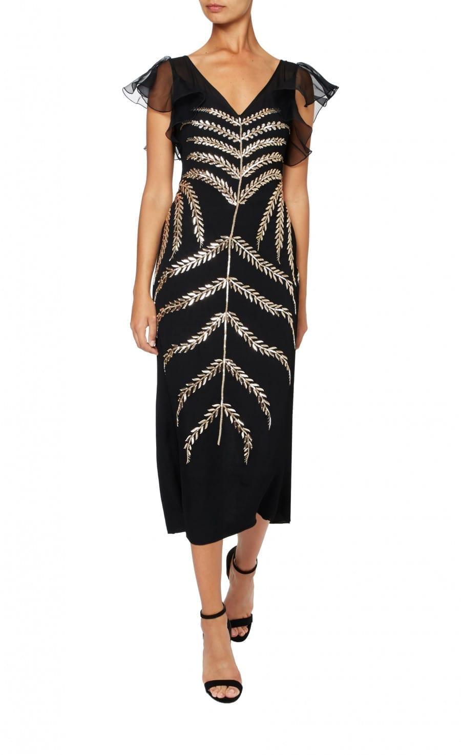 TEMPERLEY LONDON Savannah Black Dress