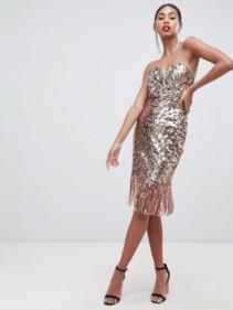 TFNC-Sequin-Bandeau-Midi-Rose-Gold-Dress-With-Fringe-Hem