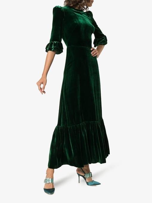 197c49adbdc THE VAMPIRE S WIFE Velvet Festival Green Dress - We Select Dresses