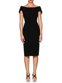 ZAC-POSEN-Cady-Fitted-Sheath-Black-Dress