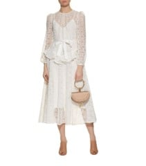 ZIMMERMANN Lace Midi Ivory Dress