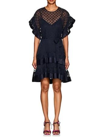ZIMMERMANN-Polka-Dot-Fil-Coupé-Navy-Dress