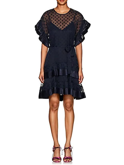 ZIMMERMANN-Polka-Dot-Fil-Coupé-Navy-Dress