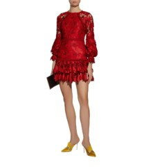 ALEXIS Fransisca Floral Embroidered Red Dress