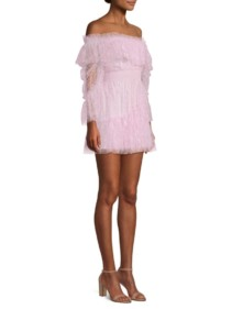 ALICE MCCALL Only Hope Off-The-Shoulder Ruffle Lilac Dress