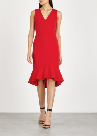 ALICE + OLIVIA Glenna Cady Red Dress