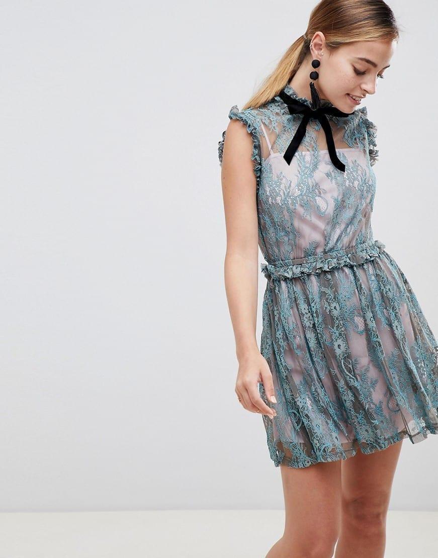 39781dc38b3 Asos Petite Kimono Mini Dress With Lace Insert - Data Dynamic AG