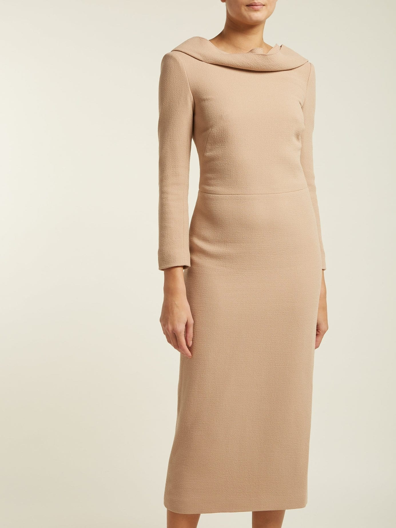 CARL KAPP Noah Wool-Crepe Camel Dress
