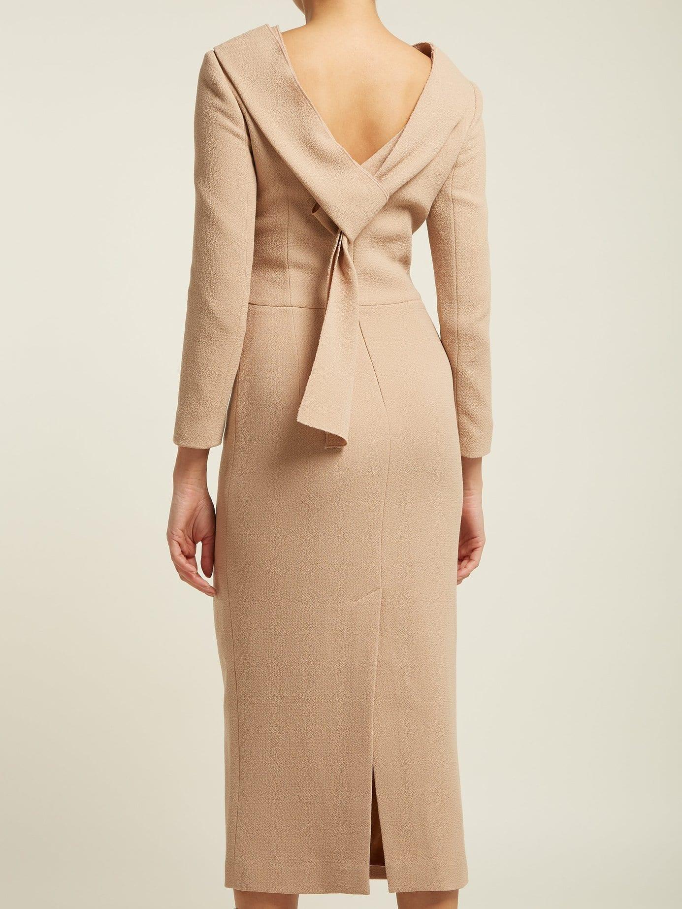CARL KAPP Noah Wool-Crepe Camel Dress