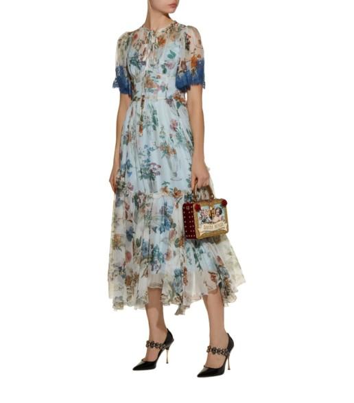 DOLCE & GABBANA Silk Multi / Floral Printed Dress