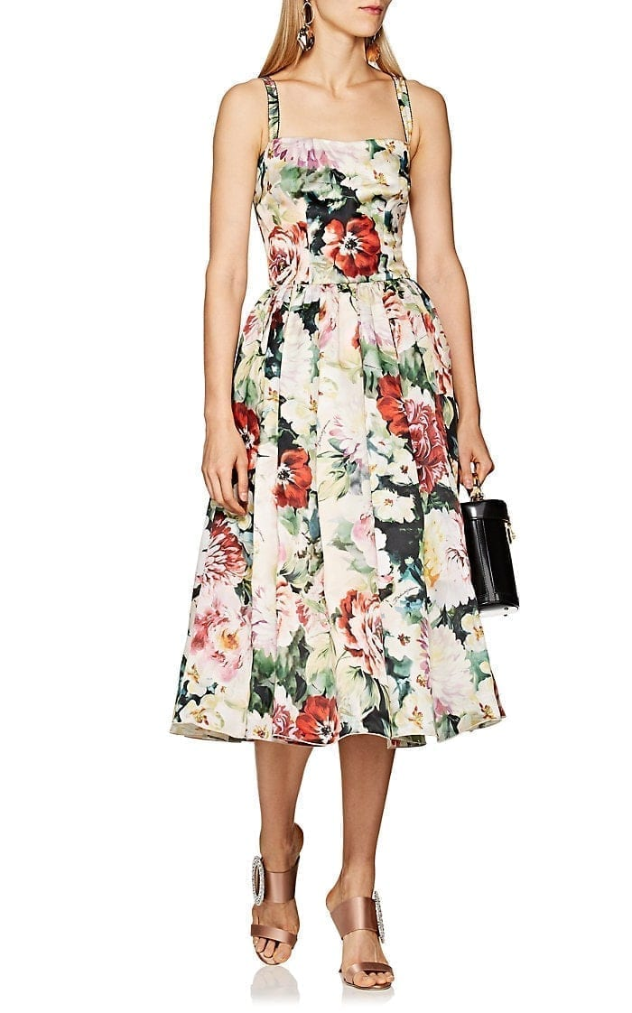 a1533d5ae2117 DOLCE & GABBANA Silk Organza light Pink / Floral Printed Dress - We ...