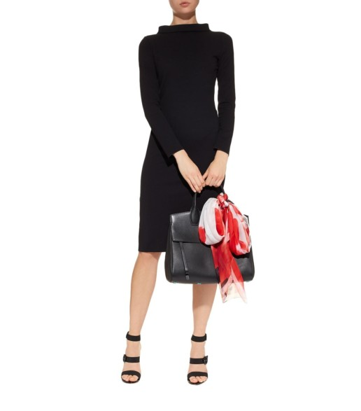 EMPORIO ARMANI High Neck Pencil Black Dress