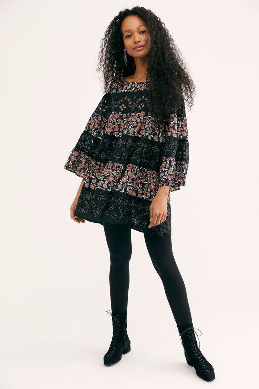 FREEPEOPLE Electric Daisy Set Midnight Combo Dress