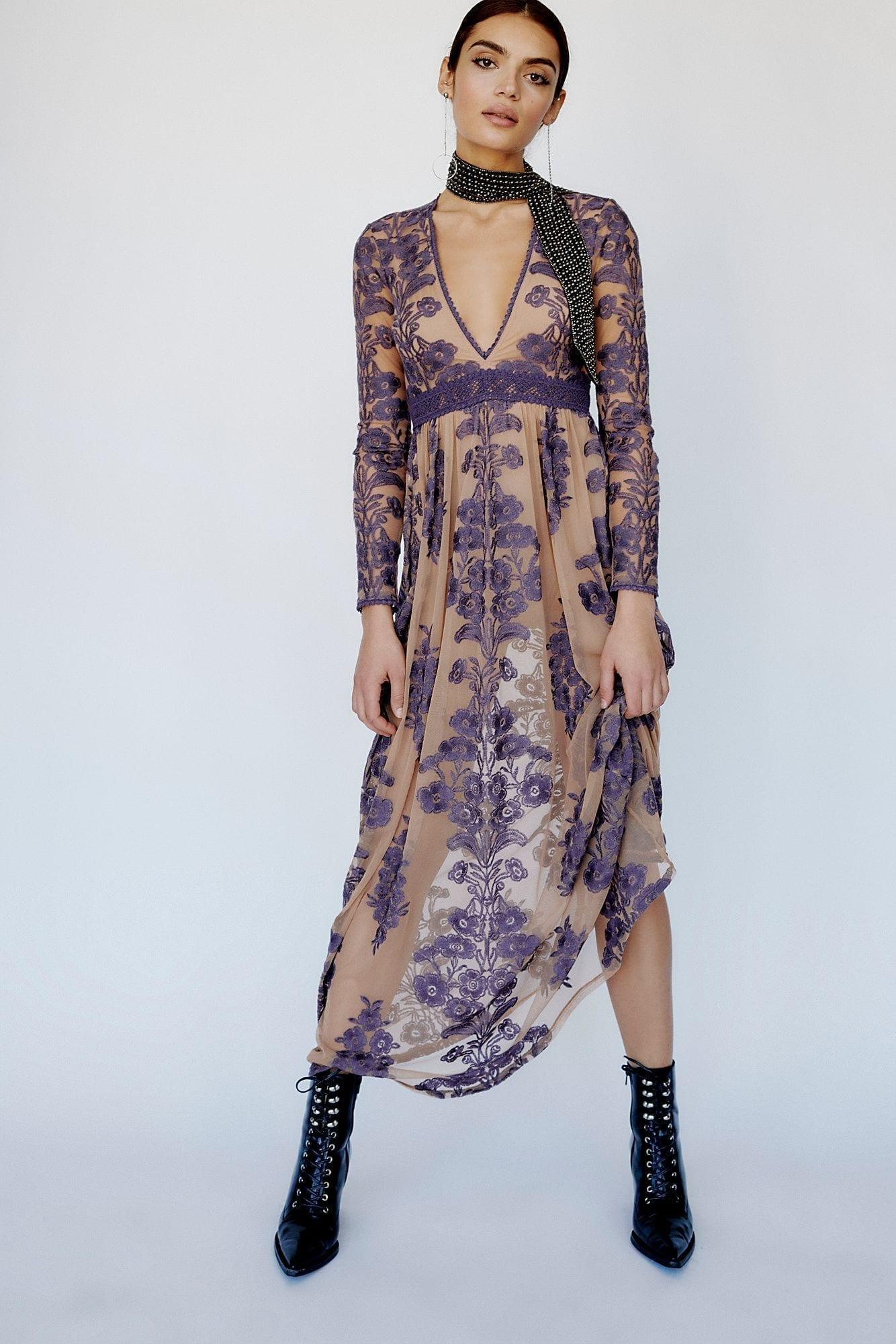 FREEPEOPLE Temecula Maxi Eggplant Dress