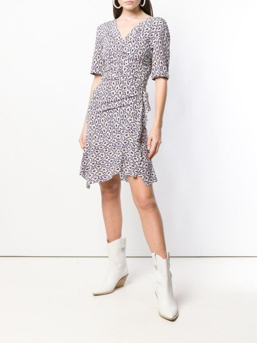 ISABEL MARANT Wraped Short White Dress