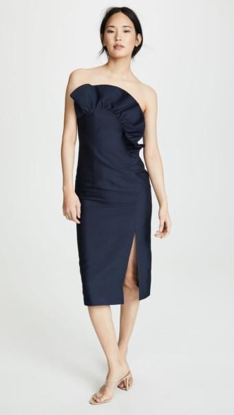 KEEPSAKE Heart And Soul Midi Navy Dress