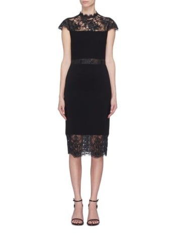 'Kim' Chantilly lace panel dress