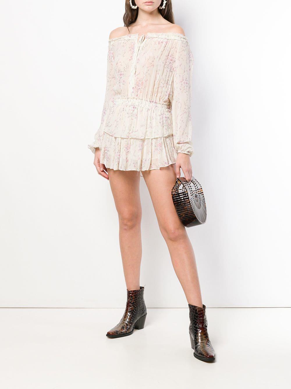 LOVE SHACK FANCY Off-Shoulder Cream Dress