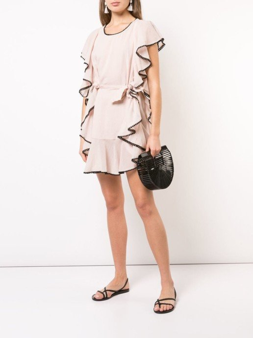 MORGAN LANE Delphine Ruffle Pink Dress