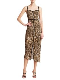 NANUSHKA Asymmetric Leopard Print Ocelot Dress