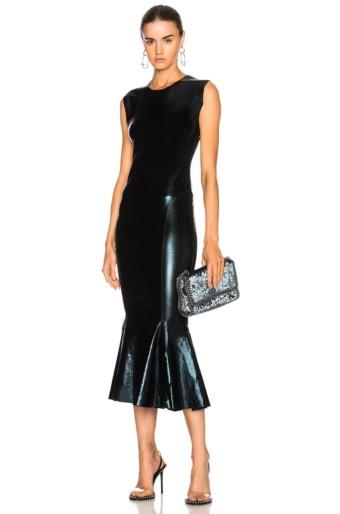 NORMA KAMALI Fishtail Black Dress